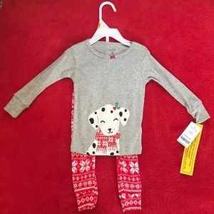 Carter's baby girl holiday pajamas
